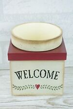 Shabby Chic Plant Pot And Holder Welcome ideal Dried Flowers Indoors SG1032