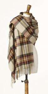 BRONTE CLASSIC MERINO LAMBSWOOL STOLE WRAP OR WIDE SCARF - OLIVE