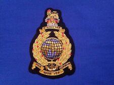 Royal Marines Commando gold bullion Blazer Badge