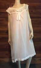 VINTAGE LAYLE LINGERIE PINK CHIFFON SIZE LARGE BABYDOLL NIGHTGOWN