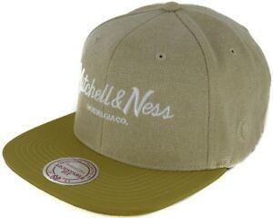 Mitchell & Ness Snapback 110 Flat Plaid Span Pinscript OB tan