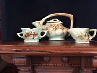 McCoy Tea Set 1946 Pine Cone Made in USA GIFTS Pottery