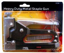 HEAVY DUTY METAL STAPLE STAPLER GUN WITH STAPLES DIY UPHOLSTERY EASY FIRE ST103