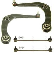 2 FRONT LOWER BOTTOM SUSPENSION WISHBONE ARM ARM 2 STABALISER LINKS PEUGEOT 206