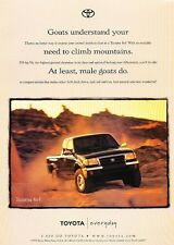 1999 Toyota Tacoma 4x4 Truck Original Advertisement Print Car Ad J528