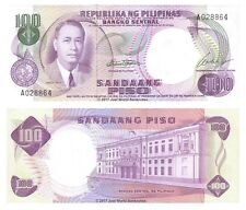 Philippines 100 Piso ND (1969) P-147a Sig. 7 First Prefix Banknotes UNC