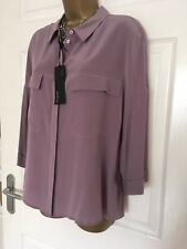 MARKS & SPENCER AUTOGRAPH PURE SILK RELAXED FIT 3/4 SLEEVE SHIRT  SIZE 20 BNWT