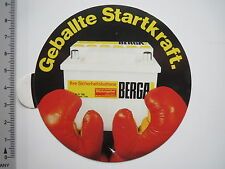 Aufkleber Sticker Berga - Batterien - Startkraft (6934)
