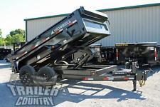 New 6 X 12 14k Gvwr Scissor Hoist Power Hydraulic Dump Trailer Equipment Hauler