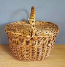 Vintage Ovale en osier panier/shopping/Cuisine/Picnic/Panier de stockage/