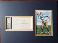 Ernie Nevers Psa Dna Coa Signed 3x5 Index Card Matted W/ Goal Line Autograph