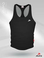 Geo Drop Curve Bodybuilding Gym Stringer Vest Sik Ibiza Degrees Mens NEW