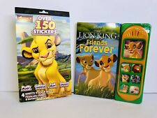 Disney The Lion King Friends Forever Interactive Sound Book and Stickers NEW