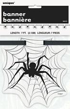 Halloween Black Spider & Spider Web Flag Banner Party Decoration Bunting Garland