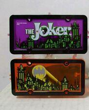 Hot Wheels Park'N Plates Batman BatMobile Joker car Superhero set of 2 sealed