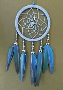 STUNNING BLUE DREAM CATCHER GIRLS BOYS BEDROOM 11cm ACROSS NEW DREAMCATCHER
