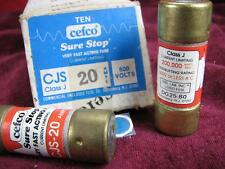 "(10) Cefco 20a Fuses 600v or less class J fuse 20 Amp 3-1/4"""