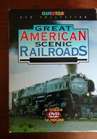 GREAT AMERICAN SCENIC RAILROADS 6 Discs DVD Set 12 Hours--RR Trains