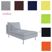 Custom Made Cover Fits IKEA Soderhamn Chaise, Replace Chaise Lounge Cover