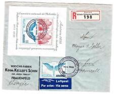 Switzerland SOUVENIR SHEET-Sc#242-FIRST DAY-17/9/1938-REGISTERED(label)