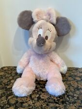 "Baby Minnie Mouse Plush Doll  Disney Parks * JINGLE rattle 11"" SOFT pastel pink"