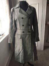 Monochrome Hobbs Wool Size 12 Maxi Length Coat