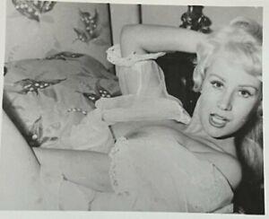 Vintage Silver Gelatin Photo Bettie Page Era Model Jodie Flemming Breast Nipples