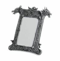 Stone Effect Dragon Picture Frame Ornament Decoration or Gothic Gift