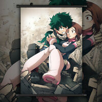 Boku no Hero Academia Uraraka Ochako Print Canvas Wall Poster Scroll Room Decor