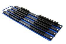 "BERGEN Tools Socket Rail Tray holds 86 sockets 1/4"" 3/8"" 1/2"" drive clips 1207"