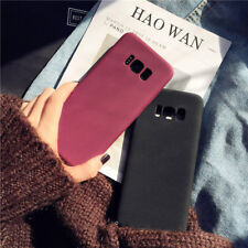 Luxury Matte Rubber Silicone Protective Case Cover For iPhone Galaxy S8 S9 Plus