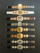 8 IWGP NJPW Custom Wrestling Figure Belts (Action figure not included)