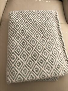 Large Soft Mint /  White Throw In good condition
