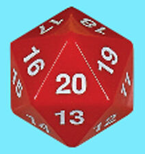 KOPLOW GAMES 55MM OPAQUE RED w/ WHITE DIE D20 Countdown Life Counter MTG D&D
