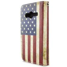 Wallet Case for Samsung Galaxy Ace NXT Card Folio Cover - American Flag Design