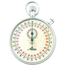 MINERVA PATENT WHITE DIAL STAINLESS STEEL STOPWATCH / TIMER FOR PARTS OR REPAIRS