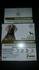 New listing Bayer Quad Dewormer For Large Dogs 45 lbs or more (2 Chewable Tablets)