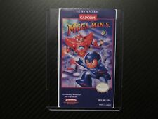 Mega Man 5 Megaman 5 Nes Replacement Game Label Sticker Precut