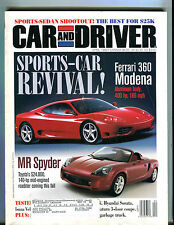 Car and Driver Magazine April 1999 Ferrari 360 Modena MR Spyder EX 041516jhe