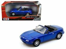MOTOR MAX MODEL -  MAZDA MX5 MK1 METALLIC BLUE 1:24 SCALE