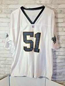 "NFL Football Premier Jersey New Orleans Saints Jonathan Vilma 51 White 32"" x 29"""