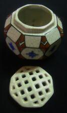 ANCIEN PIQUE-FLEURS FAÏENCE POLYCHROME ART DECO WASMUEL AMC BELGIQUE 1930 D962