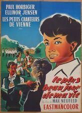 LE PLUS BEAU JOUR DE MA VIE Max Neufeld 1957 Affiche Originale 60x80 Poster