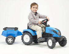 NEW Genuine Ride On Pedal Tractor & Trailer Landini Blue 2-4 yrs