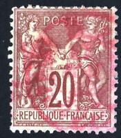 N°67 - TYPE SAGE   BELLE OBLITÉRATION  rouge des imprimés     CV: 40 €