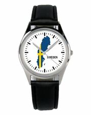 Schweden Sweden Souvenir Geschenk Fan Artikel Zubehör Fanartikel Uhr B-1102