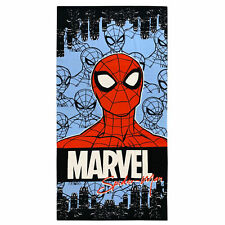 Toalla de Playa Spiderman En con Capucha De Poliéster, Mod. Marvel 70 X 140CM,