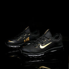 Nike AIR MAX 2017 Men's Running Shoes New Style Black and Gold Size 11