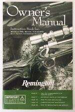 Original Remington Instructions & Warrant MODEL 700 7 710 673 Bolt Action Rifles