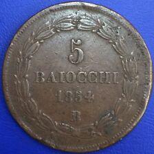 Vatican 5 Baiocchi 1854 B Bologne #178